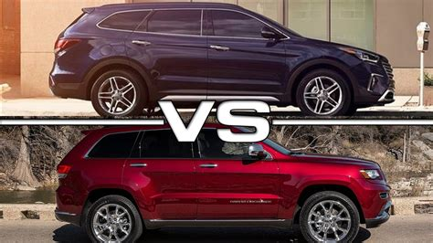 hyundai jeep hyundai santa fe sport vs jeep grand