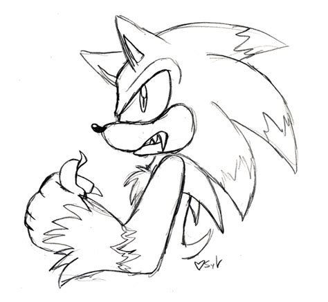 werehog sonic free coloring pages