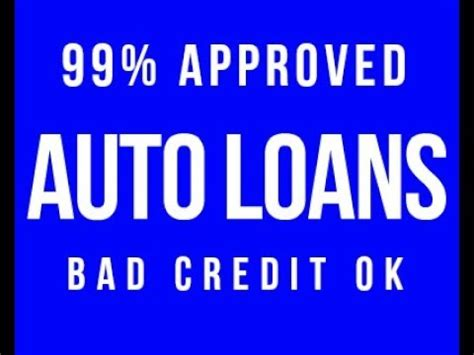 auto loans bad credit ok car loan