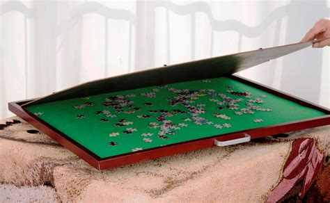 puzzle table with cover jigsaw puzzle table storage spinning turn spinner board