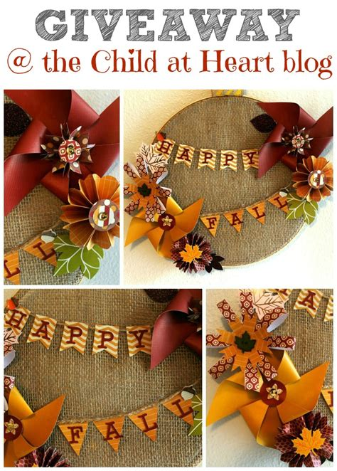 Fall Giveaway - fall wreath giveaway child at heart blog