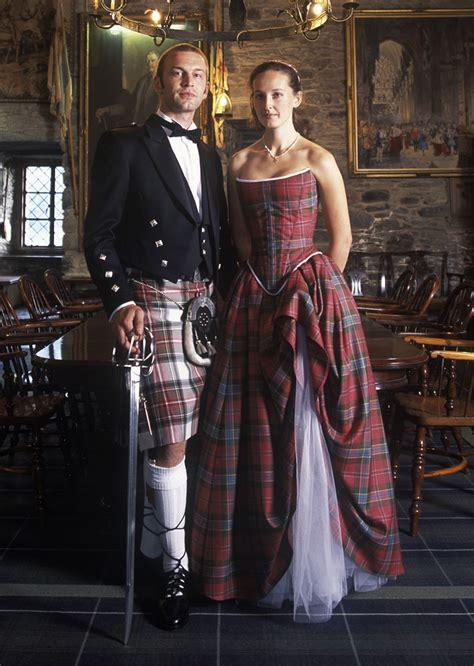 lochcarron custom tartan wedding dress tartan gown