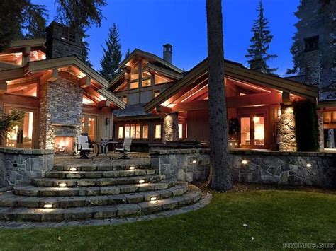 Luxury Ski Lodge In Canada Others Chalet Ski And Patio