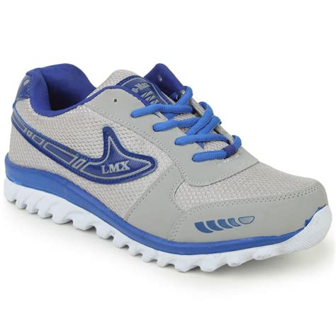 buy branded grey blue sports shoes gbs02 at best