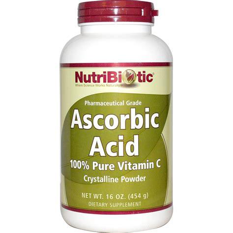 nutribiotic ascorbic acid crystalline powder 16 oz 454 g iherb com