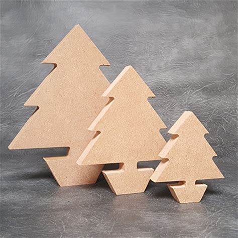 free standing christmas tree 18mm thick wooden craft shapes