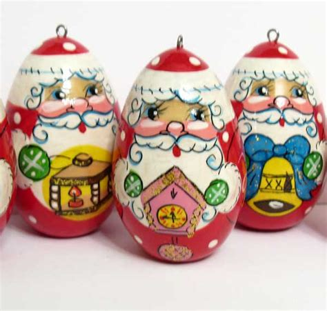christmas ornaments santa russian christmas ornaments