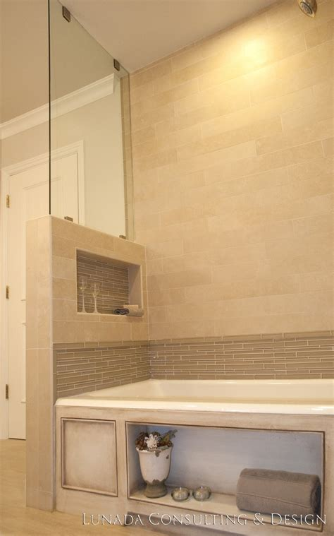 Shower niche pony wall bathroom renovation pinterest pony wall shower niche and walls