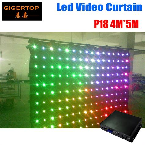 led vision curtain aliexpress com buy p18 4m 5m led video curtain for dj