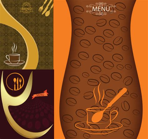 background daftar menu 欧式典雅咖啡菜单矢量图 菜谱设计矢量 矢量素材 素彩网