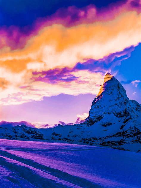 winter bound hearts snow mountain sunrise matterhorn quote