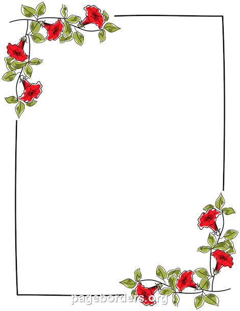 printable borders with flowers printable floral border use the border in microsoft word