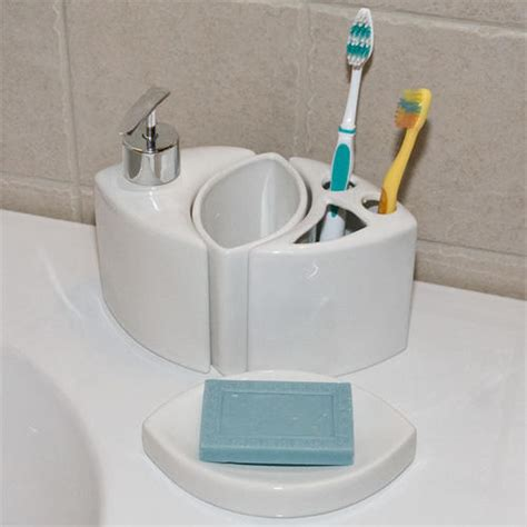 Modern Porcelain Bathroom Accessories 4 Piece Set Toothbrush Holder Bathroom Accessories