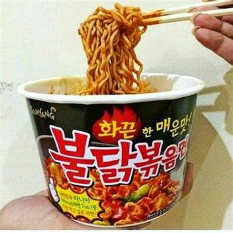 Ramen Instan Di Korea jual samyang spicy mie ramen instan cup noodle korea twintails shoppa