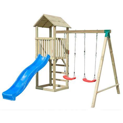 altalene in legno da giardino per bambini casetta in legno per bambini torretta altalena scivolo