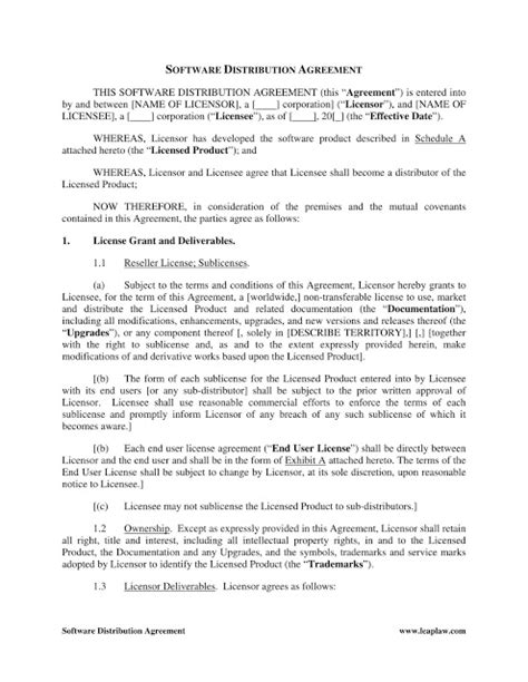 distributorship agreement template distributor agreement templates in word format excel