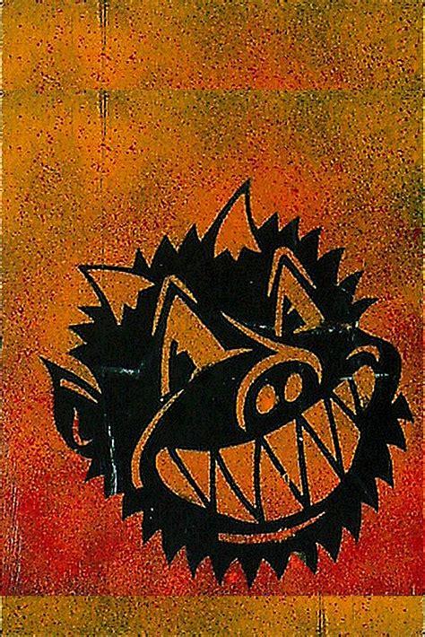 evil demon devil pig monster smile stencil graffiti