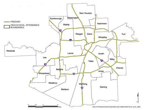 houston isd map houston isd map of schools