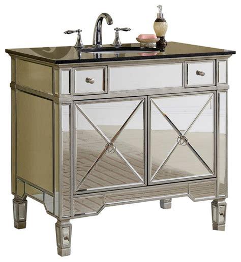 mirrored bathroom vanity with sink ashlyn mirrored vanity with sink 36 quot contemporary