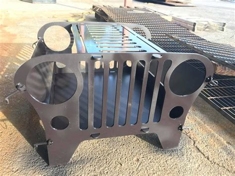 Custom Firepits Buy A Crafted Custom Jeep Pit And Grill Made To Order From Dynasteel Custom