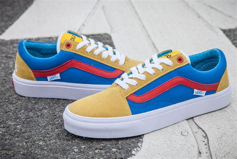 Vans Golf Wang 5 vintage vans golf wang skool skate shoes blue yellow c314 stylish vans skateboard