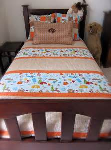 our big boy bed like the quilt pattern cool design