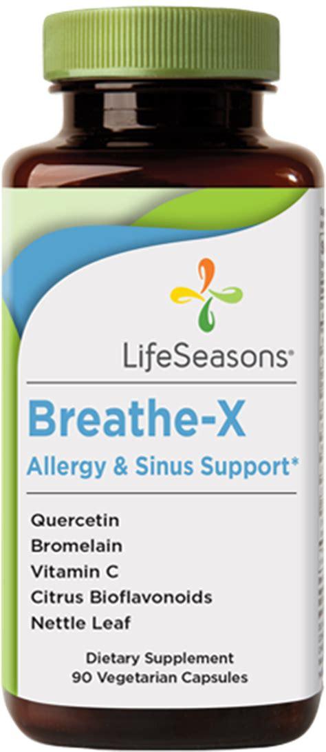x supplement sinus allergy supplement breathe x by lifeseasons
