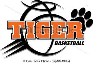 eps vectors of tiger basketball design csp18419994