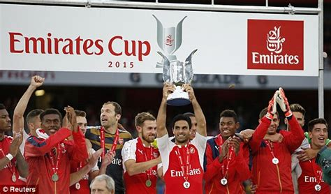 emirates cup arsenal 1 0 wolfsburg report follow the action from