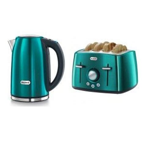 Coloured Kettle And Toaster Sets breville teal kettle and 4 slice toaster set house