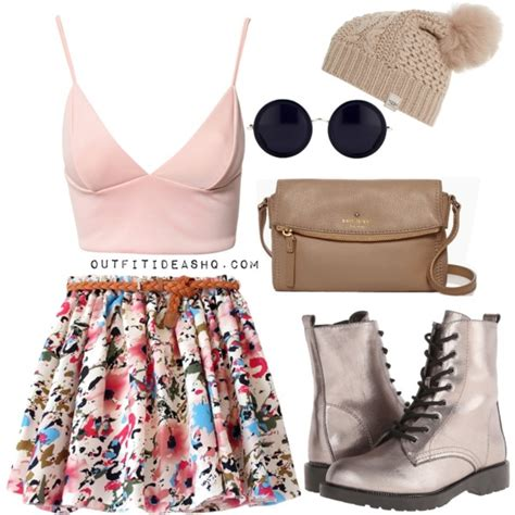 preppy ideas with combat boots