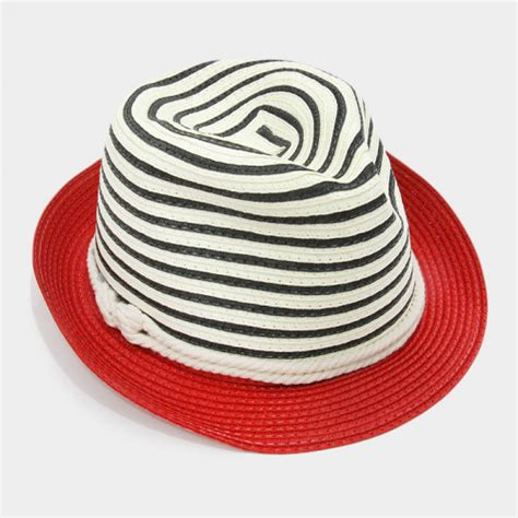 How To Make A Fedora Out Of Paper - striped color block paper straw fedora hat style