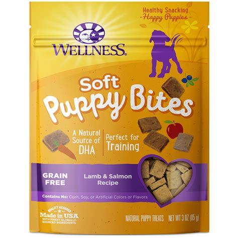 wellness puppy treats wellness soft puppy bites treats salmon recipe petco