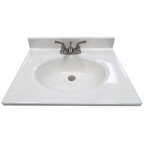 25 x 19 bathroom vanity top shop us marble ambassador 101 white on white cultured