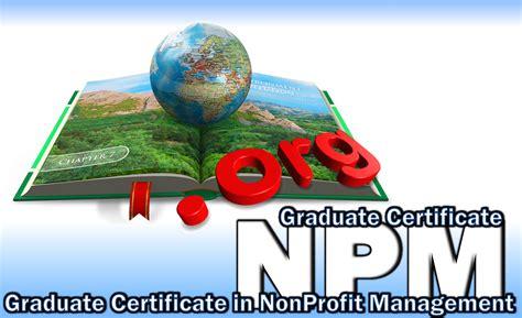 non profit service graduate certificate in nonprofit management