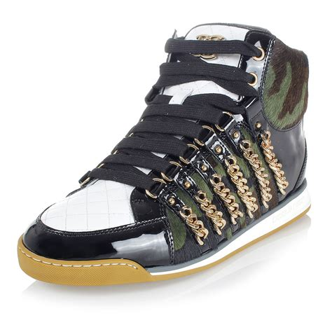 dsquared2 sneakers dsquared2 leather sneakers shoes spence outlet