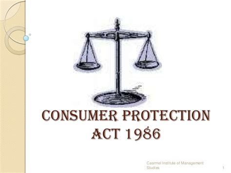 how to a for protection consumer protection act 1986