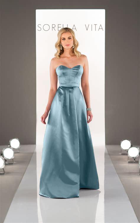 satin bridesmaid dress sorella vita