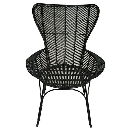 black chairs target black rattan wingback chair threshold target