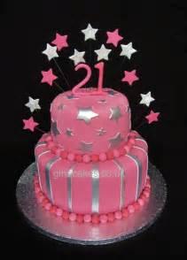 21st birthday pink amp silver stripes amp stars cake gina molyneux cake artistry