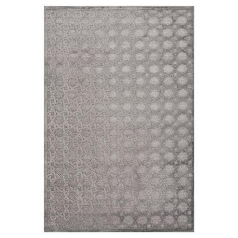 Grey Chenille Rug by Regency Luster Lattice Grey Chenille Rug 5x7 6