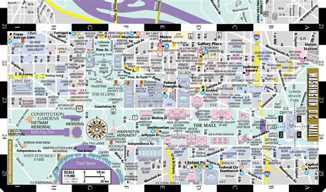 streetwise washington dc map laminated city center map of washington dc michelin streetwise maps books 100 big washington dc map maps update 21051488