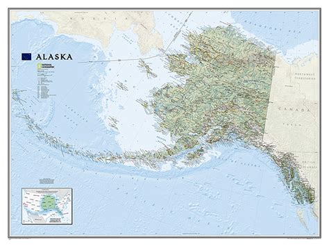 buy alaska sleeved by national geographic maps