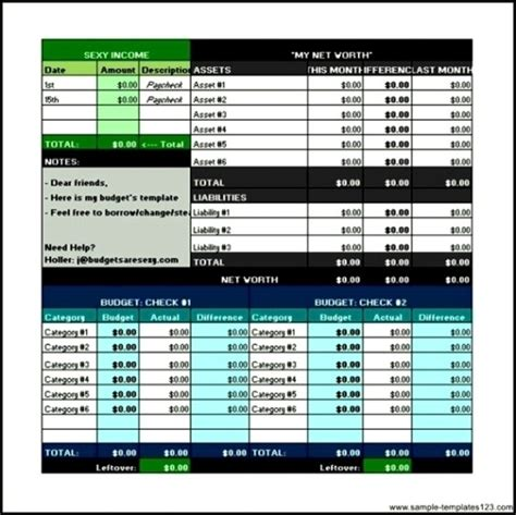 financial excel budget template free download sle