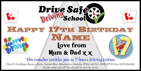 Printable Driving Lesson Voucher Template | drive safe driving school in grimsby gift vouchers