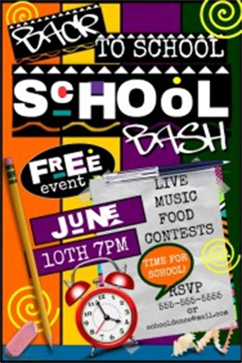 Party Flyer Templates Postermywall Back To School Bash Flyer Template Free
