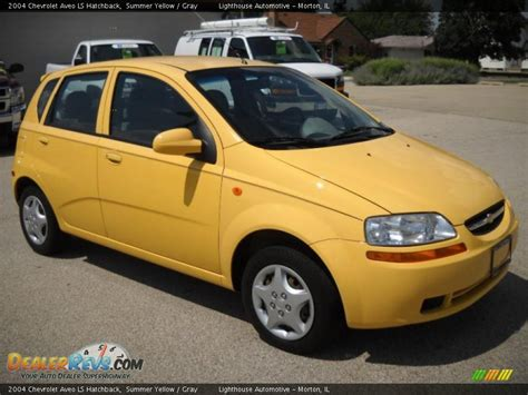 chevrolet aveo 2004 hatchback 2004 chevrolet aveo ls hatchback summer yellow gray