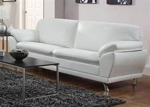 White Sofas Leather Coaster Robyn 504541 White Leather Sofa A Sofa Furniture Outlet Los Angeles Ca