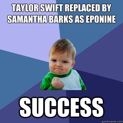 Samantha Meme - taylor swift replaced by samantha barks as eponine success