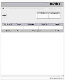 Free Printable Invoices Templates Blank by Printable Blank Invoice Form Mochabaydesign